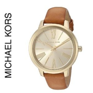 NWT authentic MK Hartman gold tone watch